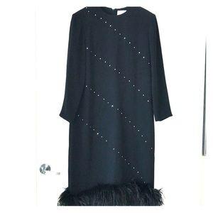 Nolan Miller black evening dress